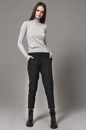Nisan Triko Kadın Siyah Beli Lastikli Duble Paça Pantolon NP4508