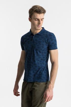 Ltb Erkek  Lacivert Polo Yaka T-Shirt 012198430760890000
