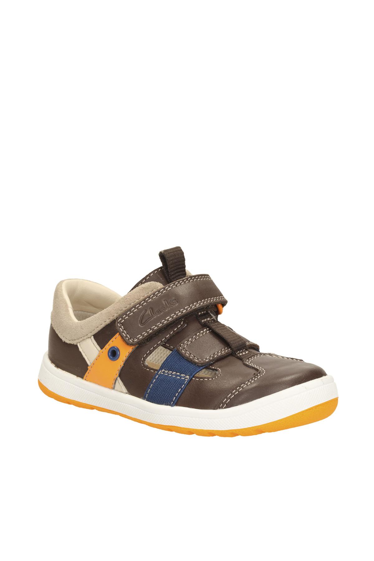 CLARKS Hakiki Deri Kahverengi Çocuk Ayakkabı 261147507 1