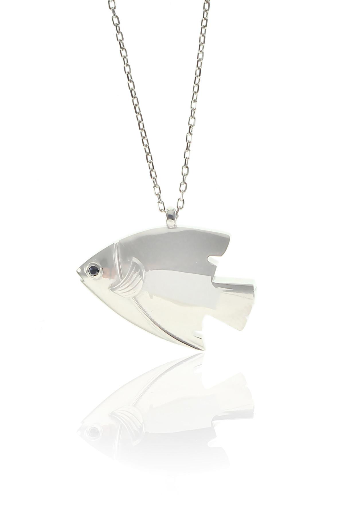 Söğütlü Silver Kadın Balık Kolye SGTL8416 1