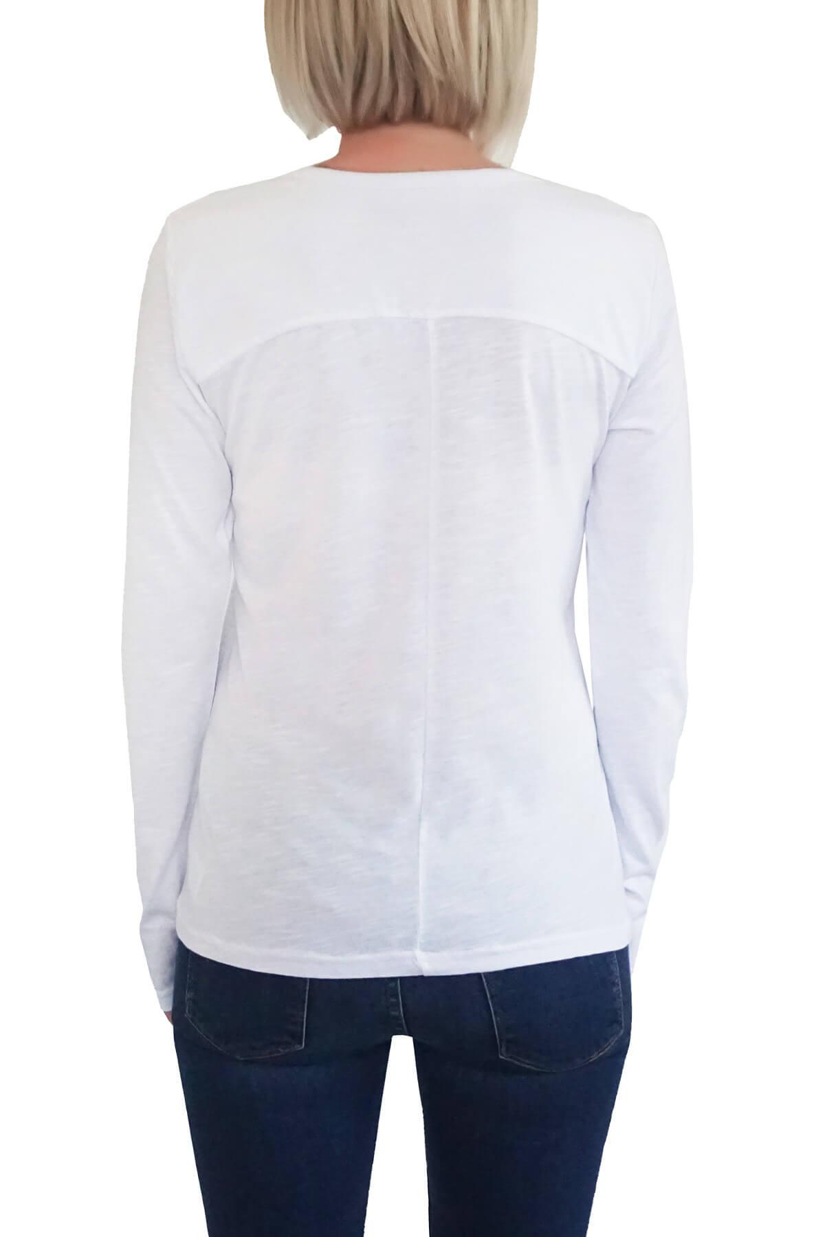 MOF Kadın Beyaz T-Shirt UKSYT-B 2