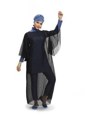 Armes Kadın Siyah Kaftan Elbise Pareo 9222