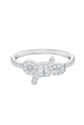 Swarovski Kadın Yüzük Lifelong Bow:Ring Sml Cry/Rhs 58 5474935