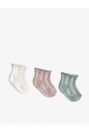Koton Kız Çocuk A.Yeşil Kiz Renkli Pamuklu Çorap Seti