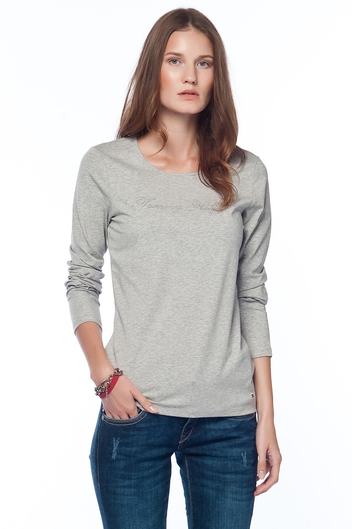 Tommy Hilfiger Gri Kadın Sweatshirt 1M87603734-002 1
