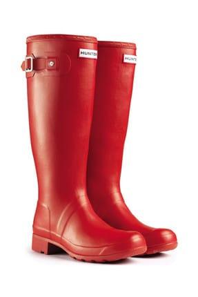 Hunter Kadın Original Tall Wellington Rain Boot - Çizme, Kırmızı 41