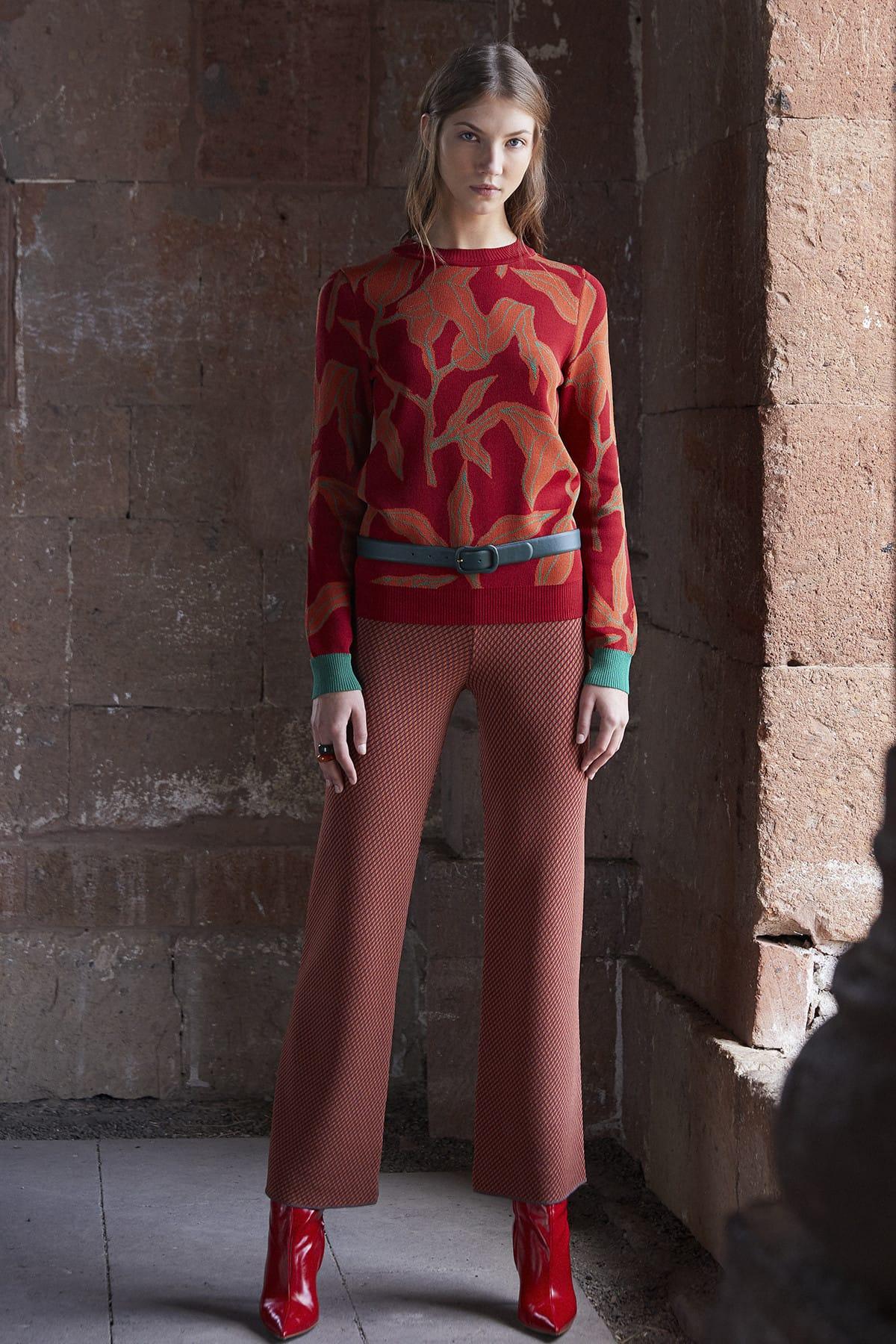 JOIN US Kadın Kahverengi  Desenli Pantolon JU8-9W-700 1