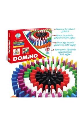 Circle Toys Renkli Ahşap Domino Oyunu 200 Parça