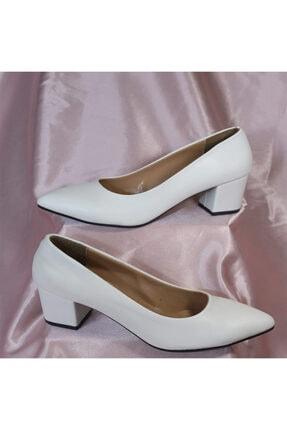 PUNTO Kadın Beyaz Renk Yumurta Topuklu Stiletto Ayakkabı