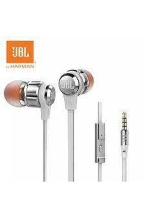 JBL T180a Pure Bass Mikrofonlu Kulak Içi Kulaklık - Gümüş