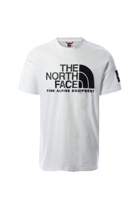 THE NORTH FACE Erkek Beyaz Bisiklet Yaka T-shirt  Eu Nf0a4m6nfn41
