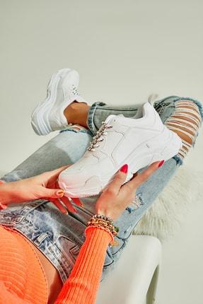 Bambi Beyaz Kadın Sneaker K01591007209