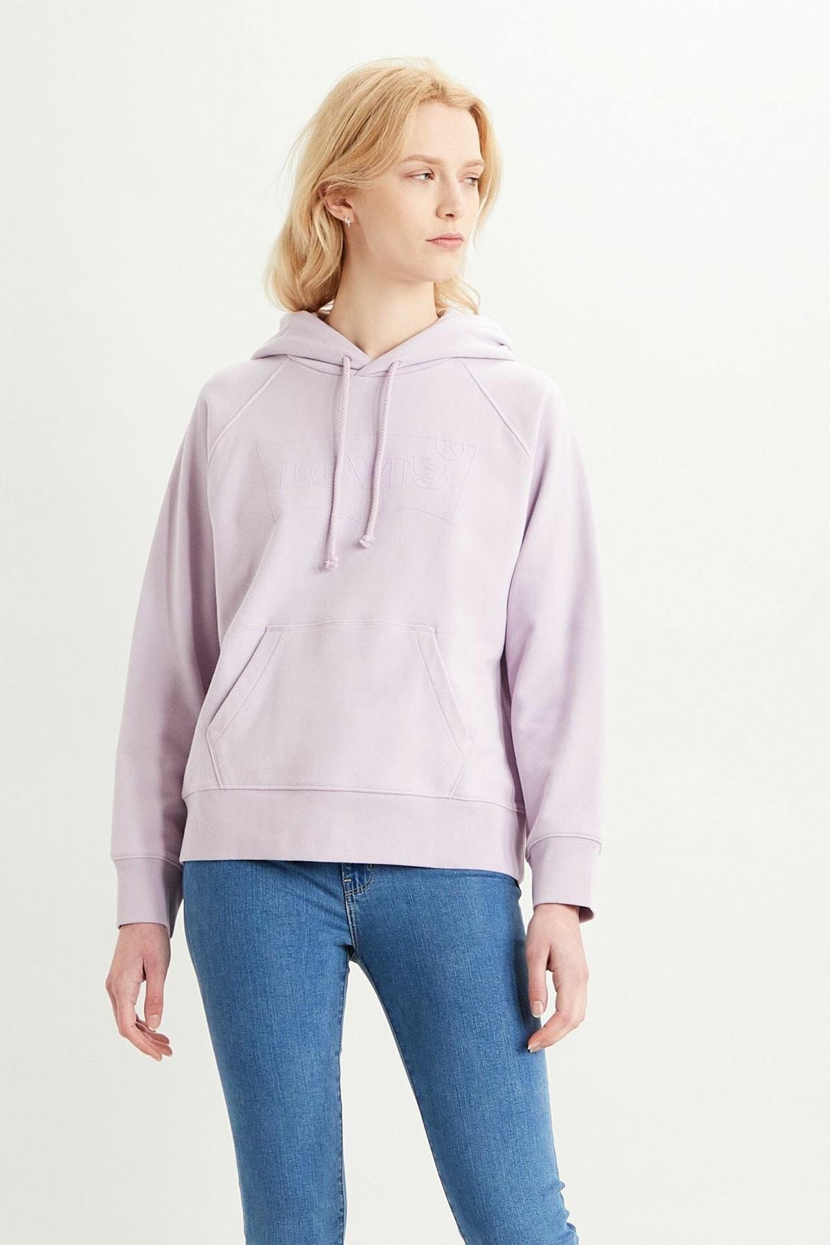 Levi's Kadın Graphic Sport Hoodie Sweatshirt 35946-0206 1