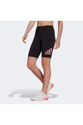 adidas Kadın Siyah Essential Gradient Logo Bisiklet Şortu