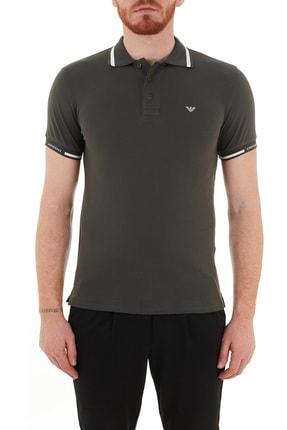 Emporio Armani Erkek Haki Pamuklu Düğmeli Polo T Shirt S 6h1ff5 1jptz 0564
