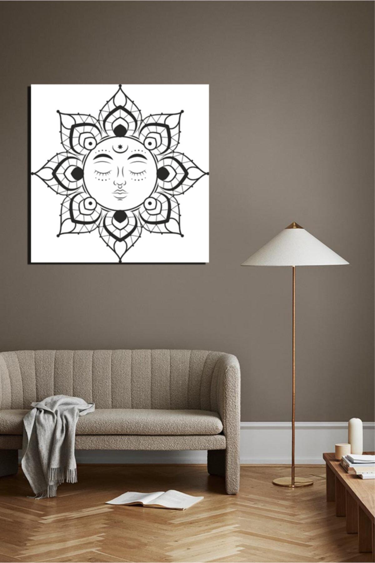 Sepet Yıldızı Dekoratif Kanvas Tablo Çizim 2