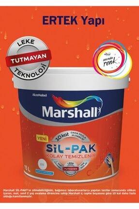 Marshall Sil-pak Leke Tutmaz Duvar Boyası 15 Lt - (20 Kg) Kum Beji