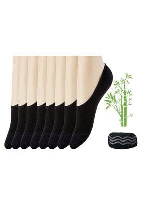 socksbox 8'li Bambu Dikişsiz Unisex Silikonlu Babet Çorabı
