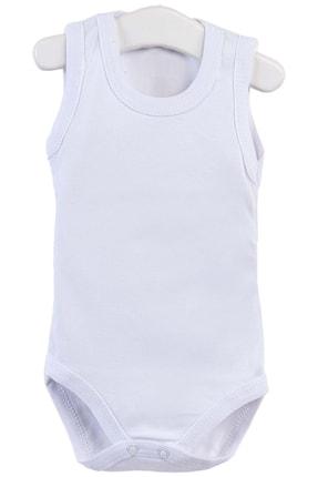 Pattaya Kids Erkek Bebek Beyaz Kolsuz Çıtçıtlı Body Ptk20s-401