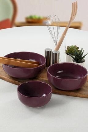 Keramika Ege Mor Salata Kasesi 3 Adet