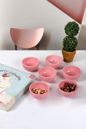 Keramika Pembe Bulut Mini Çerezlik / Sosluk 8 Cm 6 Adet