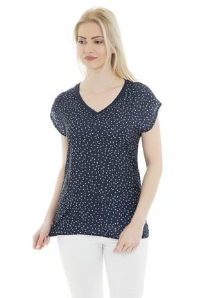 Fashion Friends Kadın Lacivert T-Shirt - 9Y0339