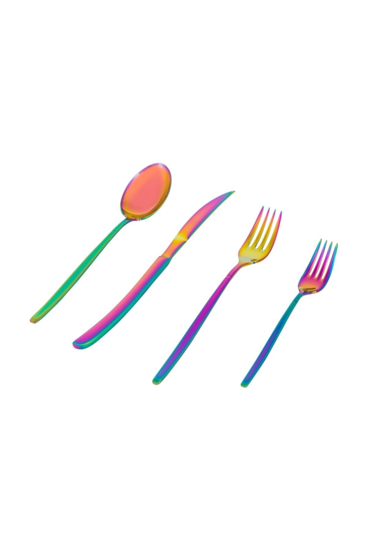 Mudo Concept Grace Çatal Kaşık Bıçak 24 Parça- Colorful 1