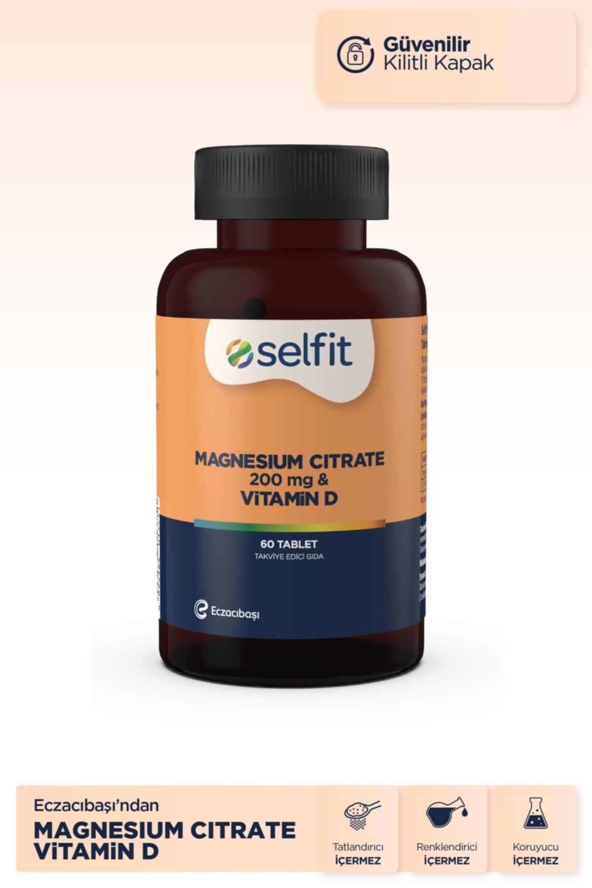 Eczacıbaşı Selfit Magnesium Citrate 200 Mg & D3 Vitamin 60 Tablet - Son Kullanma Tarihi: 01.2023 2