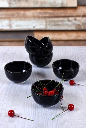 Keramika Siyah Bulut Mini Çerezlik / Sosluk  8 Cm 6 Adet
