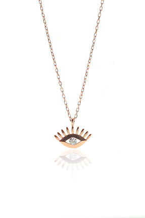 Söğütlü Silver Kadın Gümüş Göz Kolye SGTL9143