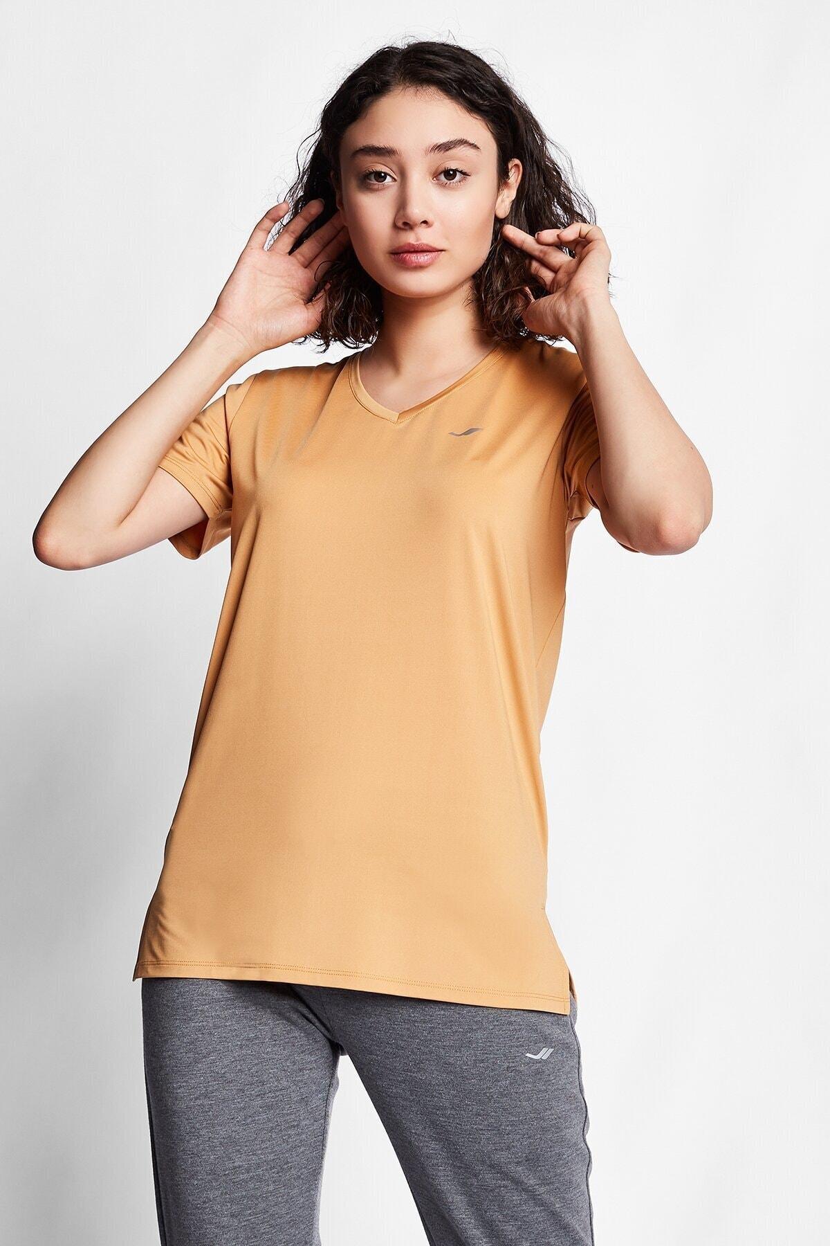 Lescon Karamel Kadın Kısa Kol T-shirt 20s-2208 2