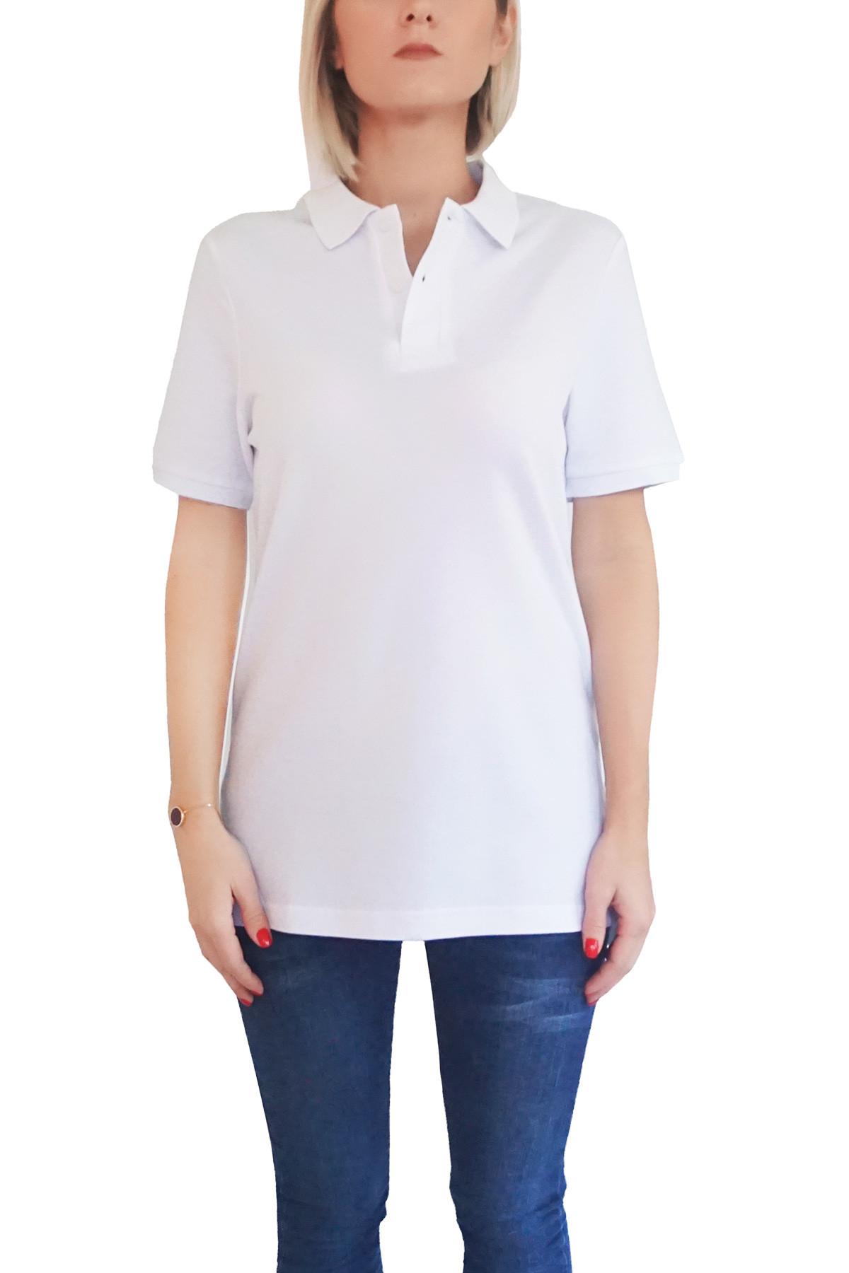 MOF Kadın Beyaz T-Shirt POLO-F-B 1