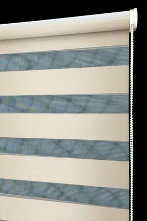 Tengo 160X200 Zebra Perde  Kraliçe Parlak Metalik Gold Stor