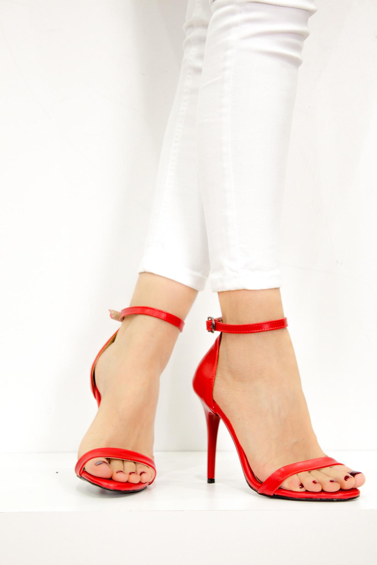 Fox Shoes Kırmızı Kadın Topuklu Ayakkabı B922112609 1