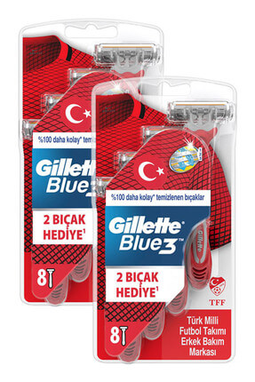 Gillette Blue3 Kullan At Tıraş Bıçağı 8'li x 2 Adet