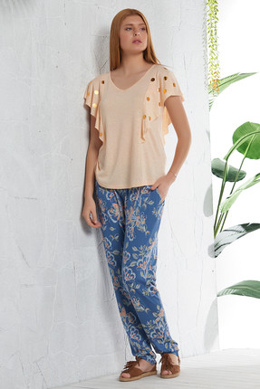 GİZZEY Kadın Sarı Melanj Pantolon Takım