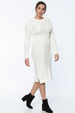 Lir Kadın Ekru Triko Elbise 1324