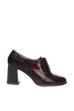 İnci Hakiki Deri Bordo Kadın Klasik Topuklu Ayakkabı 120130008803