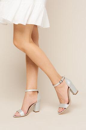İnci Gümüş Kadın Sandalet 120130008909