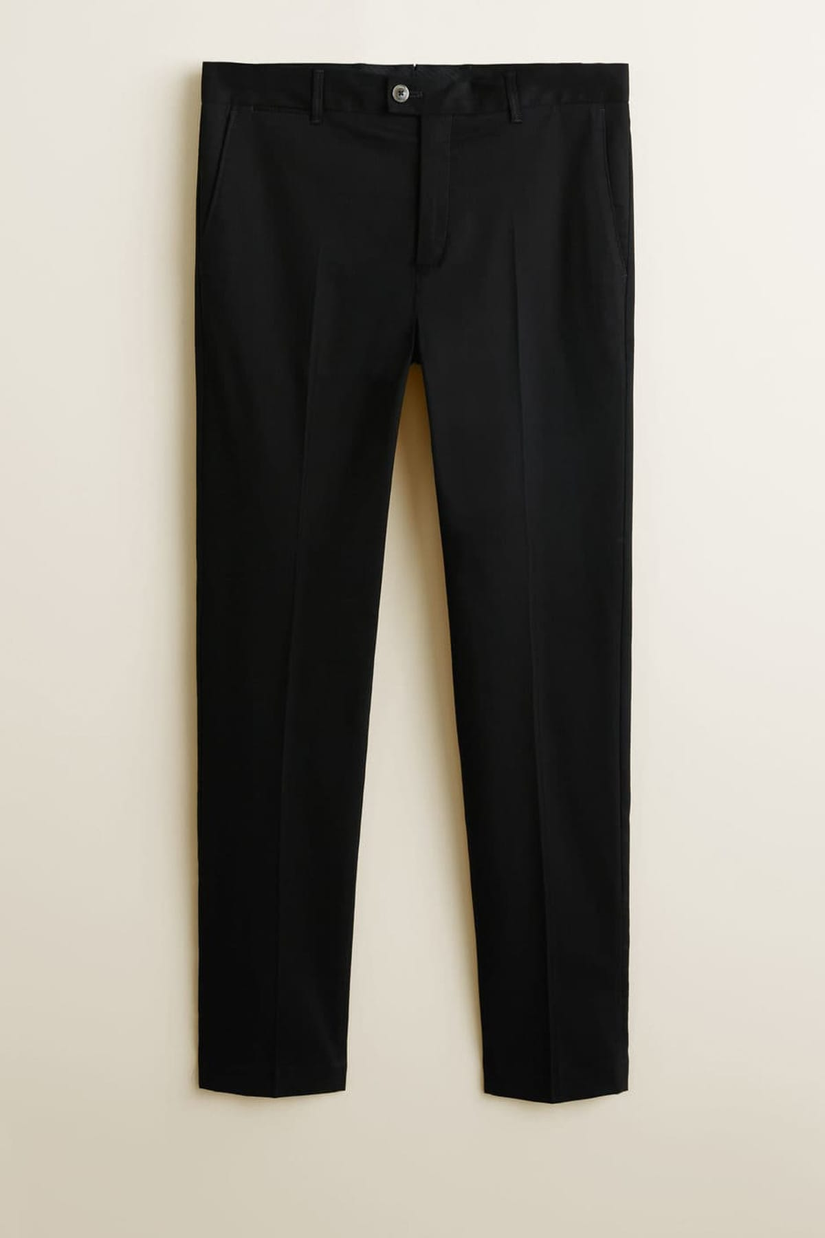 MANGO Man Erkek Siyah Dar Kesim Chino Pantolon 43080239 2