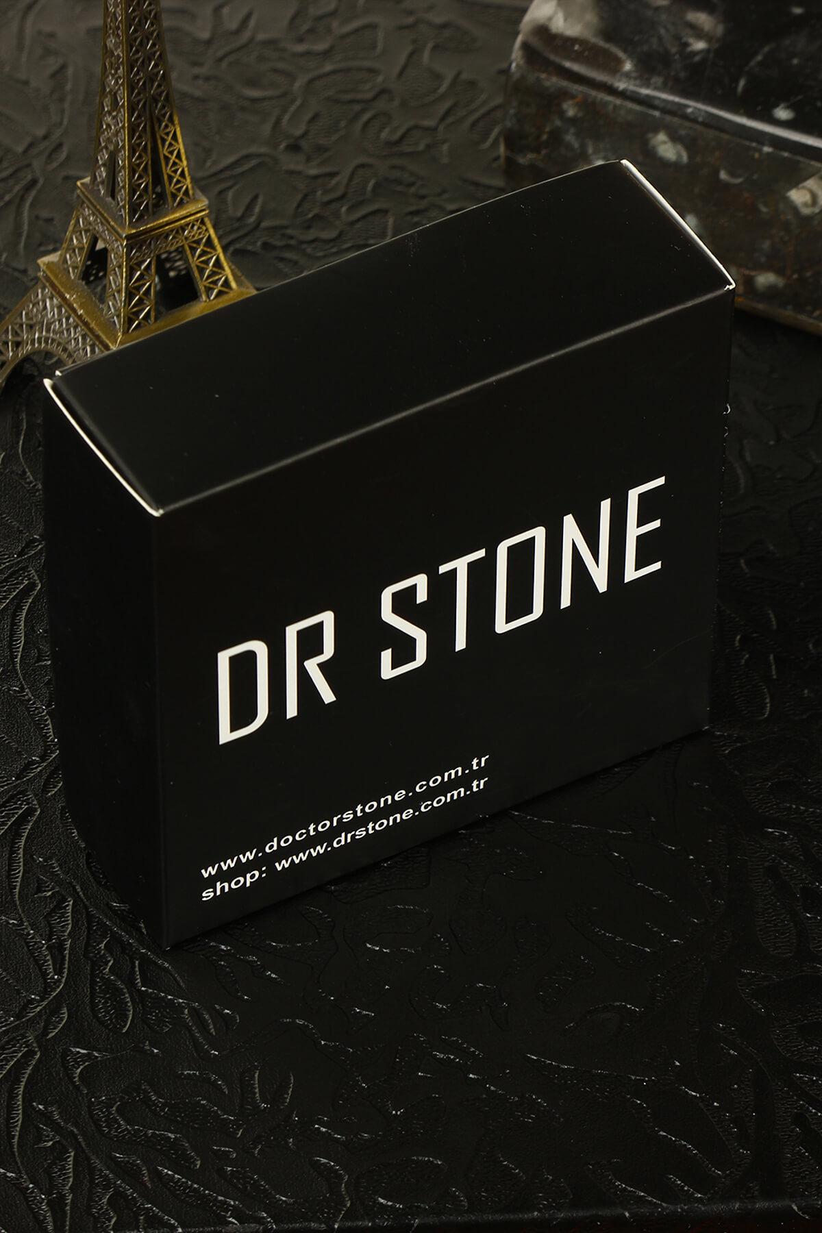 Dr. Stone Kadın Doğaltaş Kuvars Yüzük Pirinç Üzeri Mikron Gümüş Kaplama 121Ar58 2