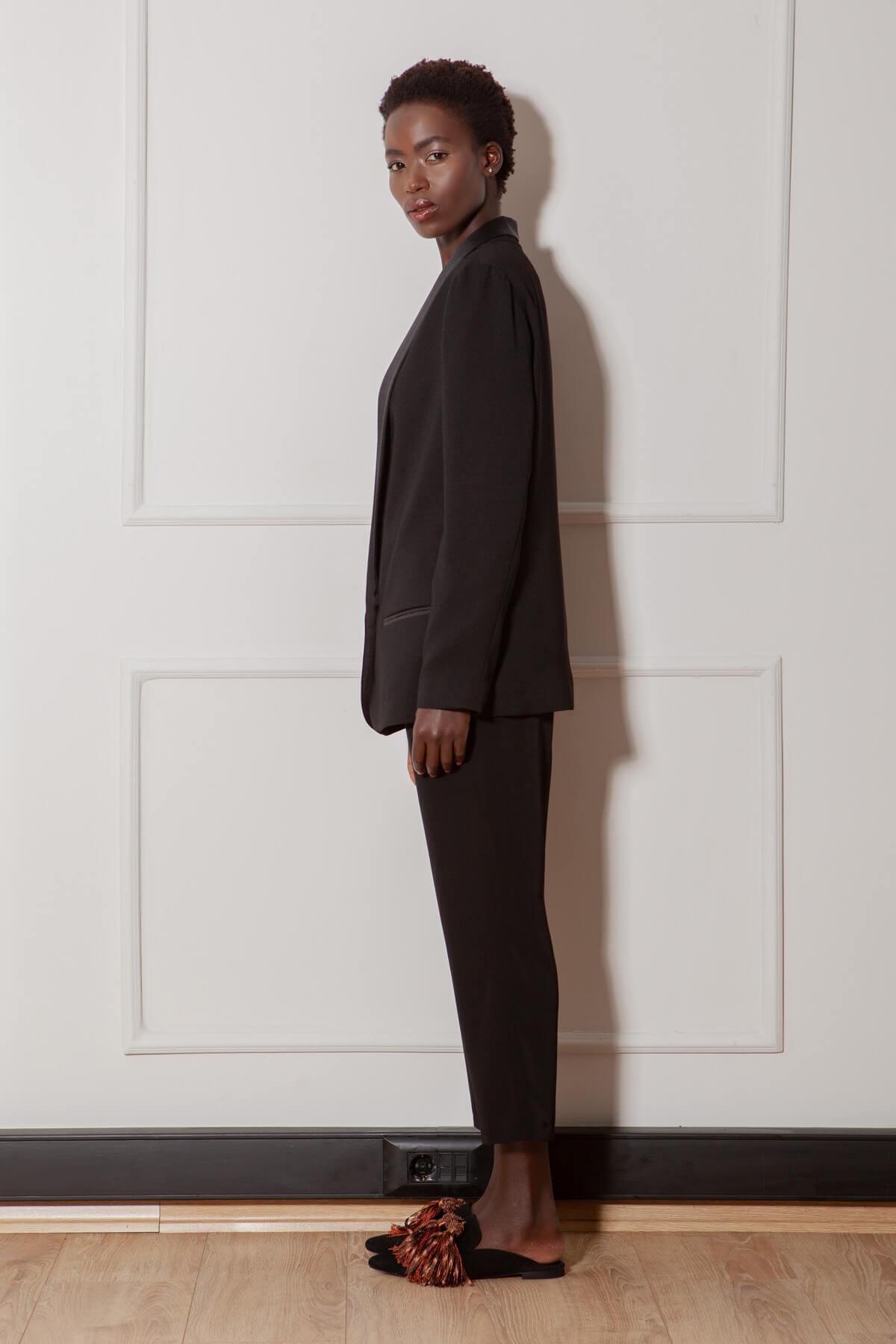 RİVUS Kadın Siyah Pantolon 1379-1 2