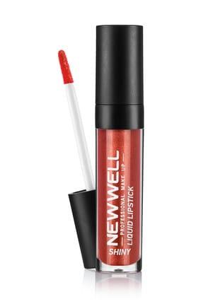 New Well Likit Ruj - Shiny Liquid Lipstick 303 Kahverengi 8680923325071