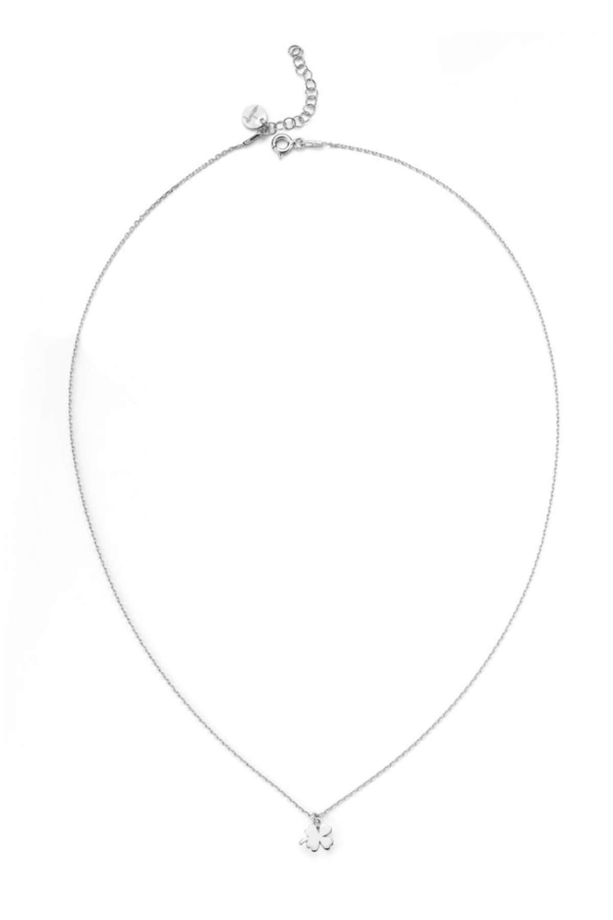 BENDİS Kadın Gümüş Yonca Kolye C528 1