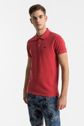 Ltb Erkek  Kırmızı Polo Yaka T-Shirt 012198454160890000