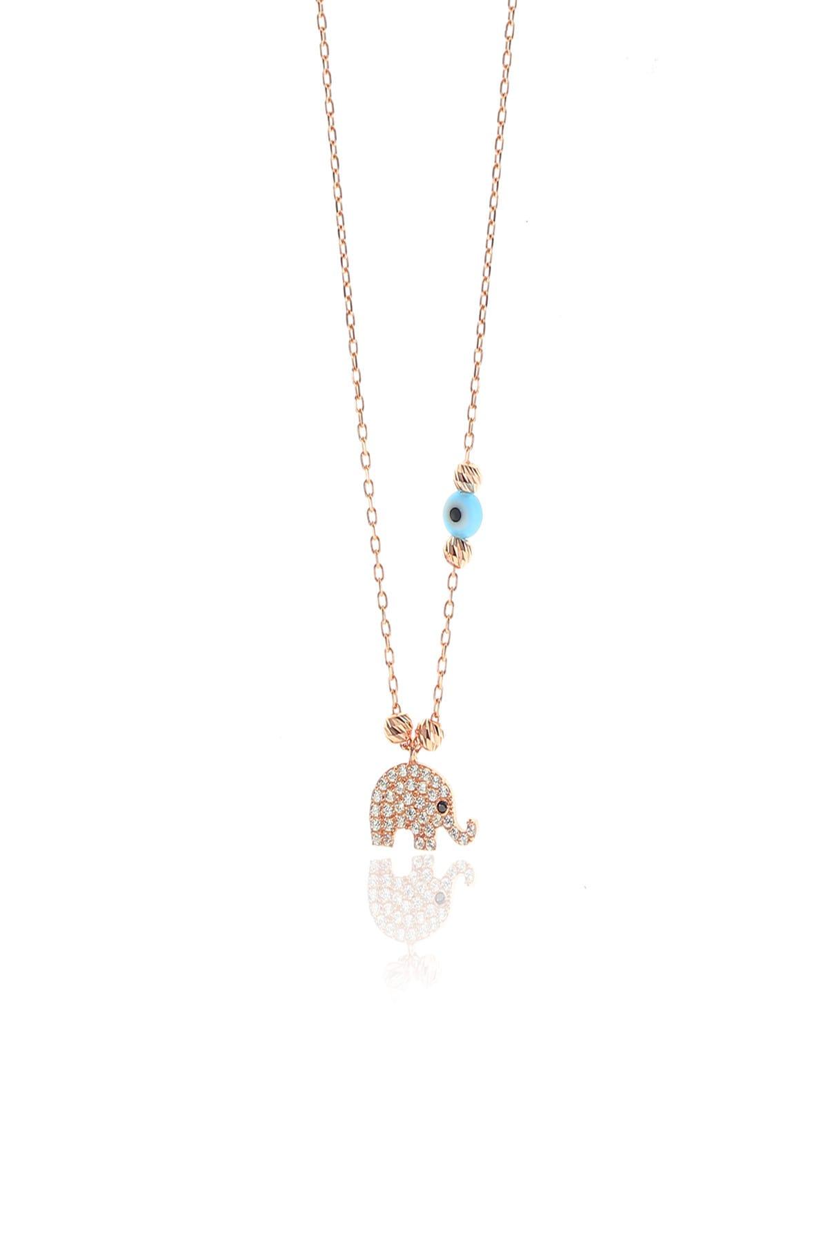 Söğütlü Silver Kadın Gümüş Dorica Toplu Fil Kolye SGTL8869 1