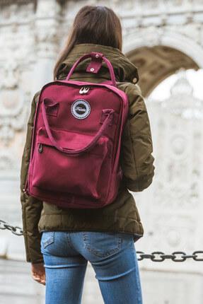 Fudela Kjm Burgundy Backpack