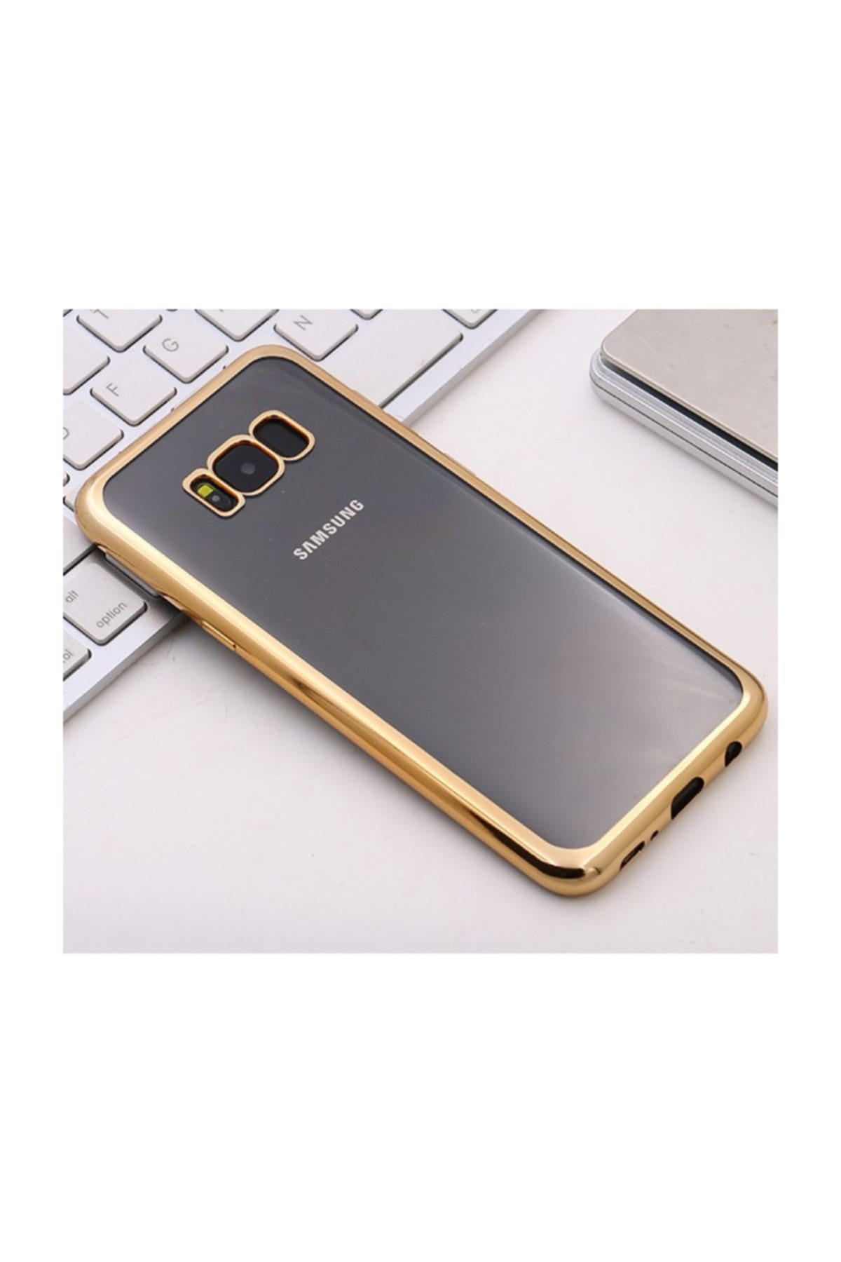 Microsonic Samsung Galaxy S8 Plus Kılıf Flexi Delux Gold 2