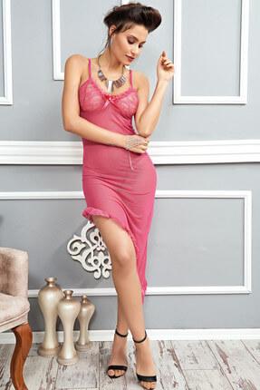 Mite Love Pembe Gecelik Transparan Kadın Giyim