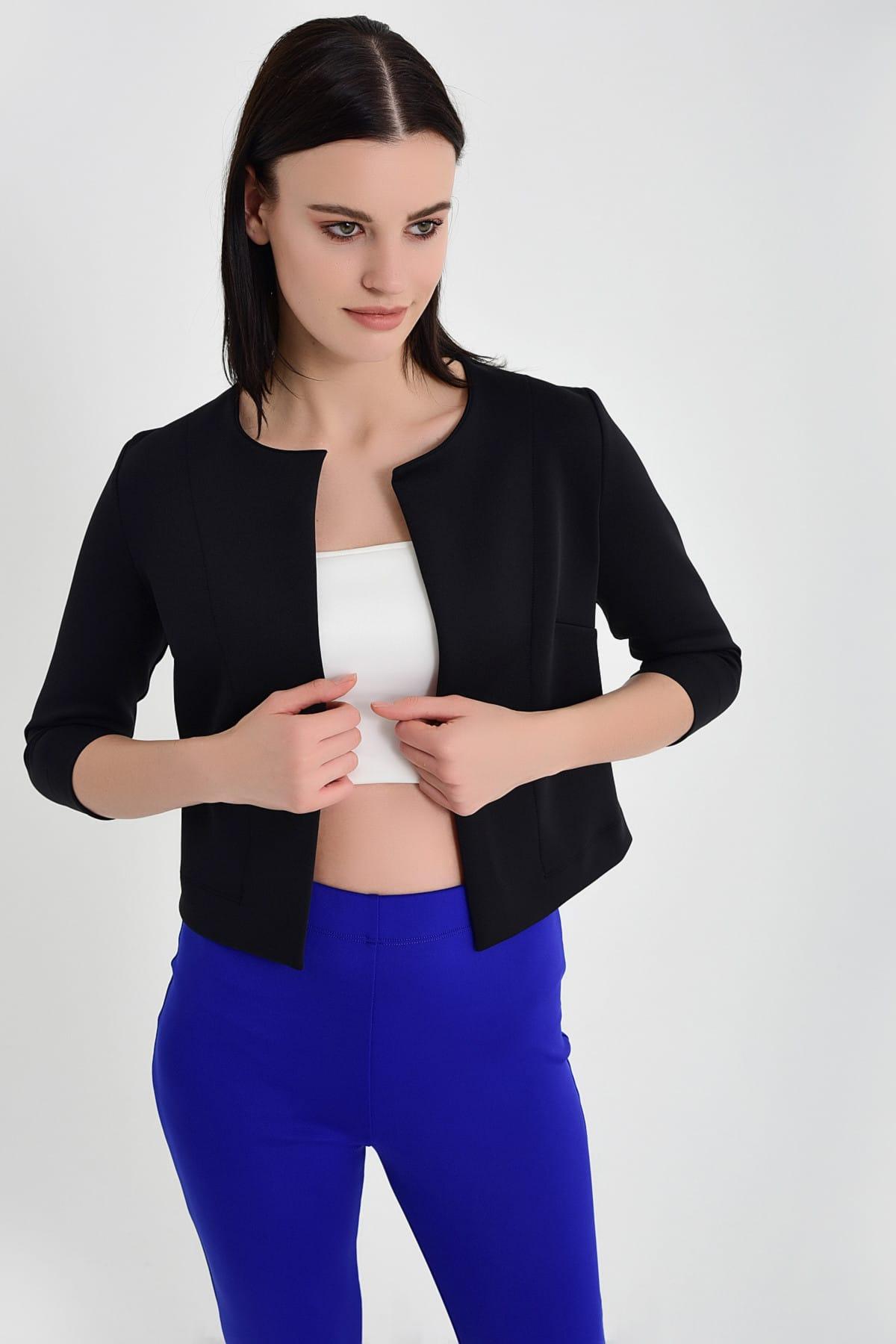 Laranor Kadın Siyah Mini Ceket 19L6595 2